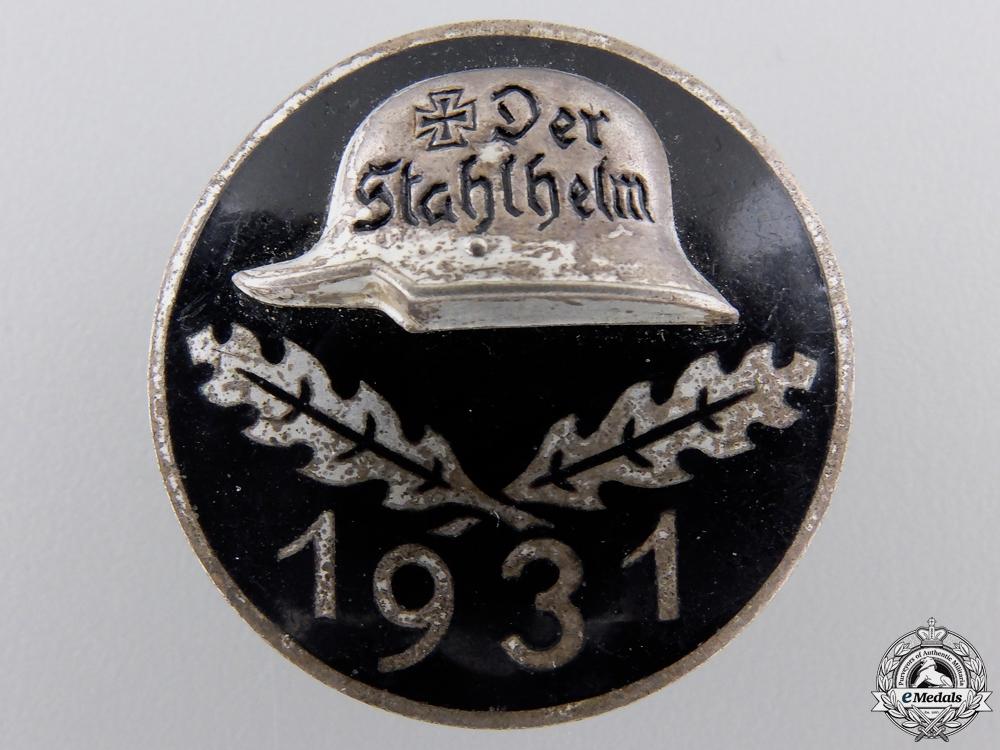 eMedals-A 1931 Stahlhelm Membership Badge