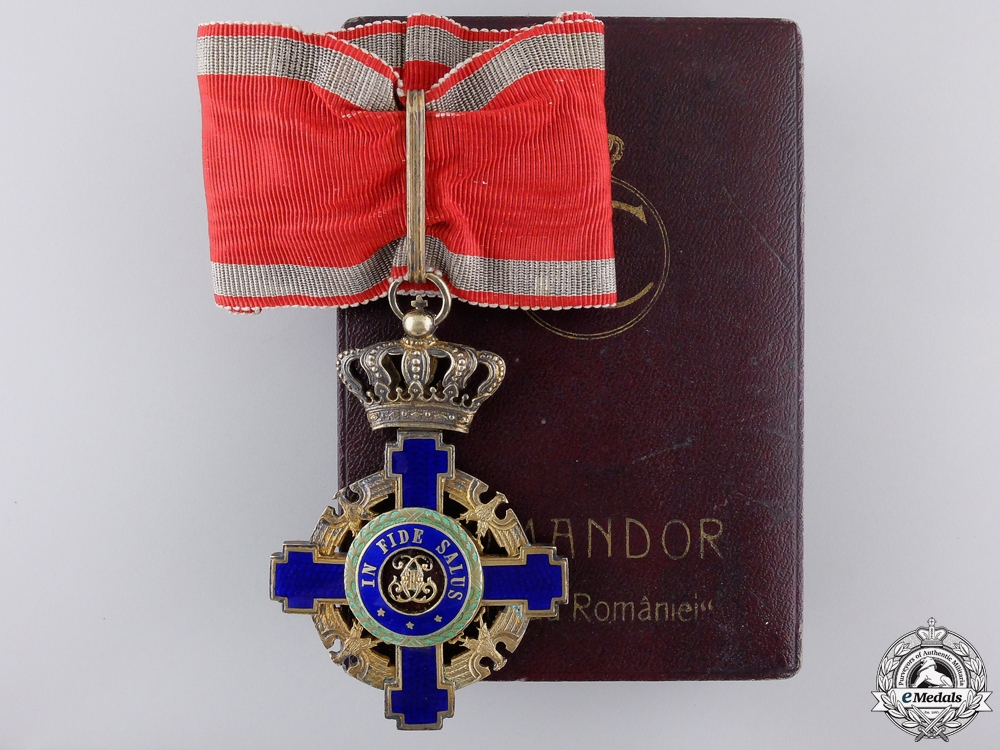 eMedals-A 1932-45 Order of the Romanian Star; Commander with Case