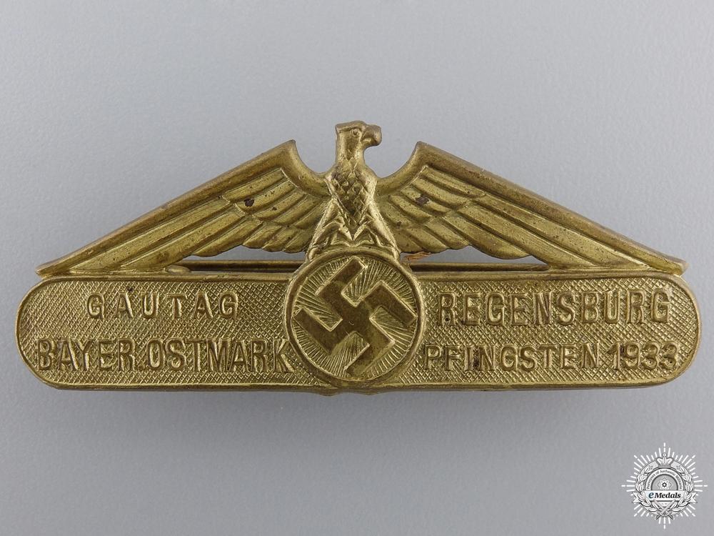 eMedals-A 1933 Bavarian East March Gau Day Pentecost Tinnie