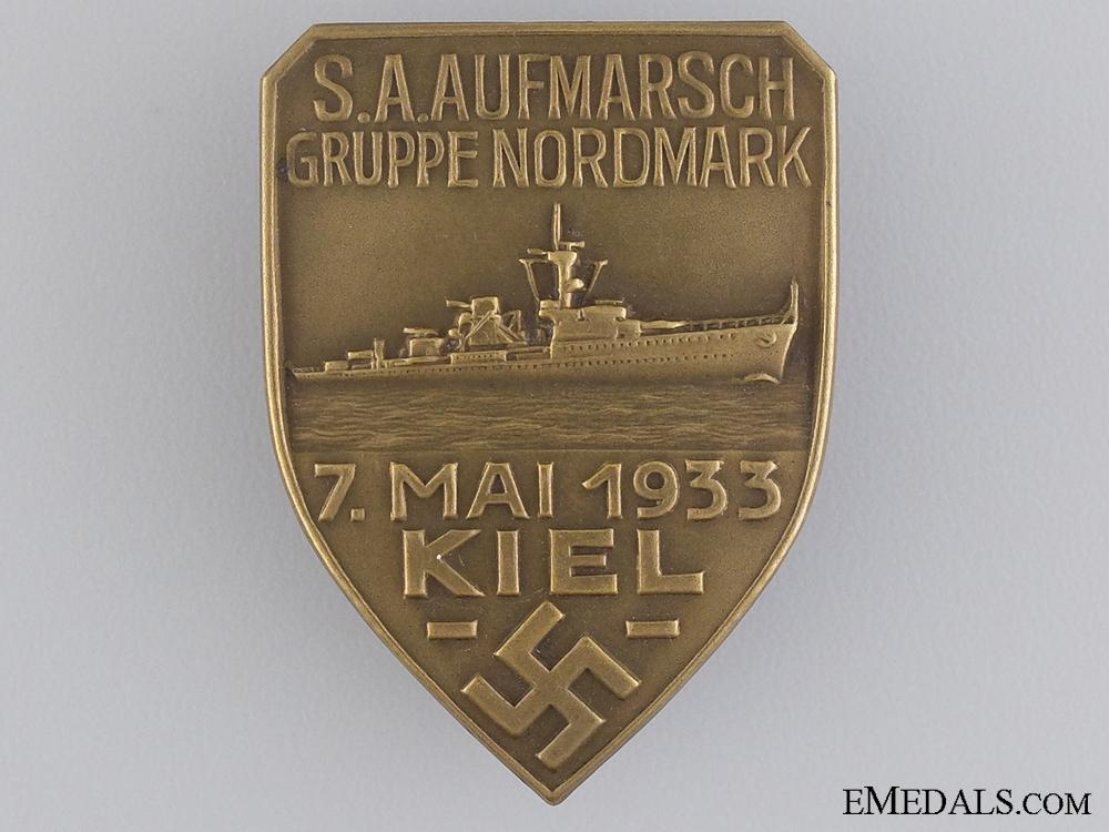 eMedals-A 1933 S.A. Aufmarsch Gruppe Nordmark Badge