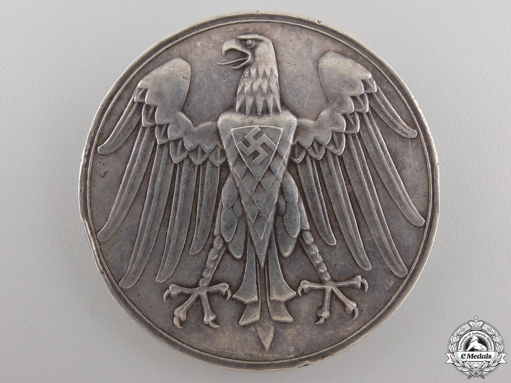 eMedals-A 1934 Third Reich Lifesaving Medal in Silver