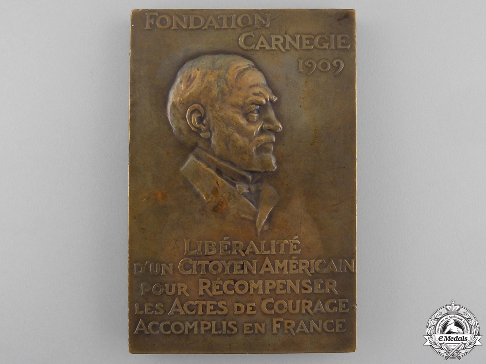 eMedals-A 1935 Carnegie Foundation Medal