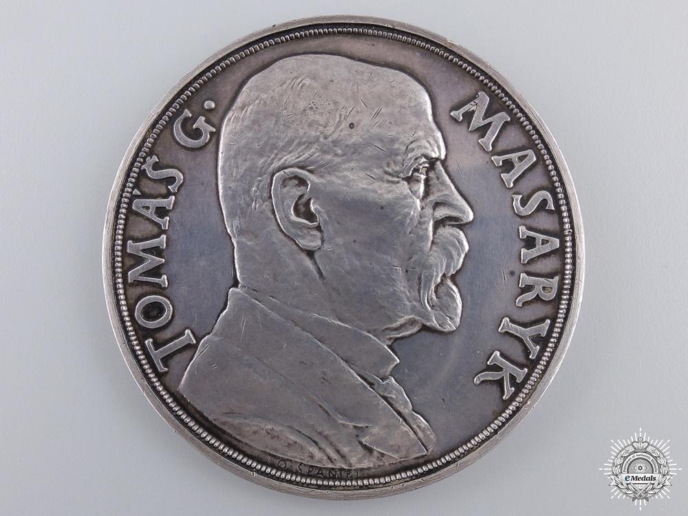eMedals-A 1935 Czechoslovakian Tomas G. Masaryk Medal; Silver Grade