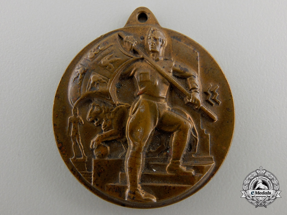 eMedals-A 1935 Fourth National Meeting of Italian Artillery Gunners at Florence Medal