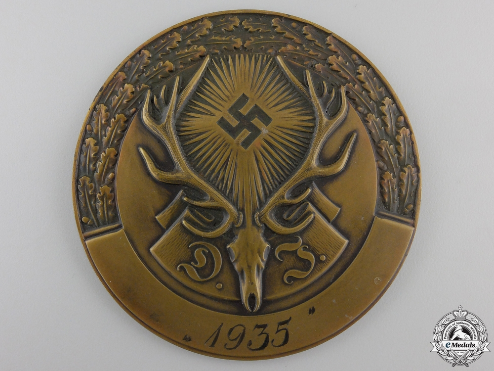 eMedals-A 1935 German Hunting Association Plaque