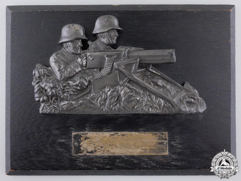 eMedals-A 1935 German Machine Gunners Plaque
