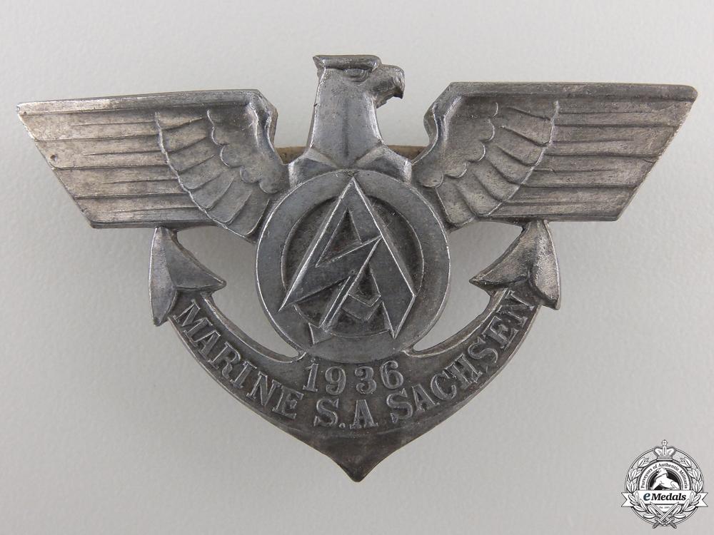 eMedals-A Scarce 1936 Marine SA Sachsen Badge