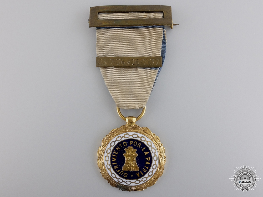 eMedals-A 1937 Spanish Medal for Suffering for the Country