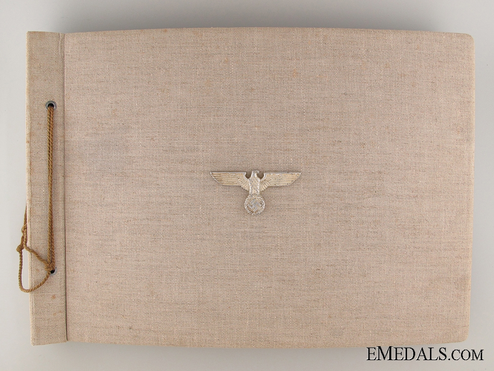 eMedals-A 1938 Extensive Artillery Album with Edelweiss