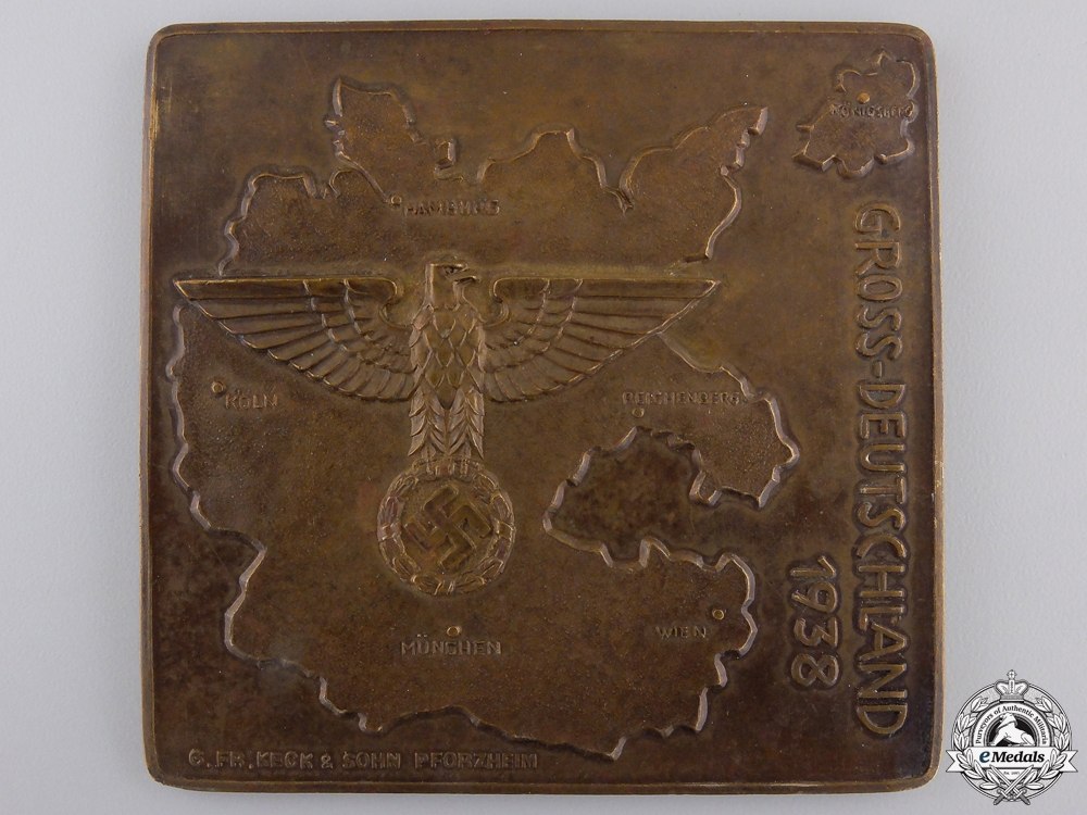 eMedals-A 1938 Grossdeutschland Regiment Plaque