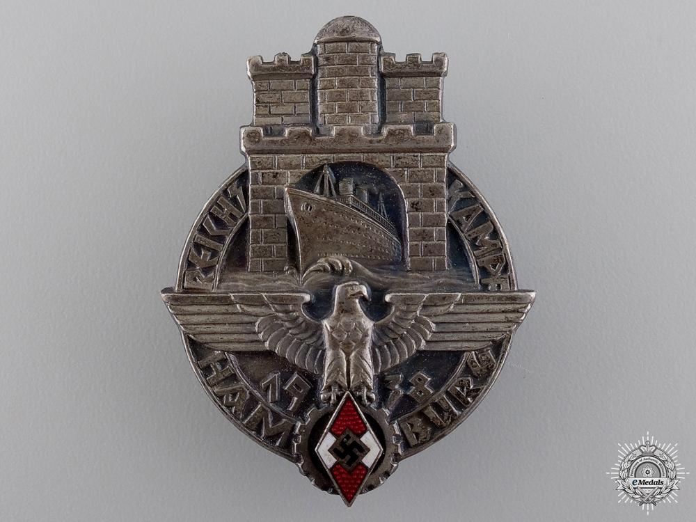 eMedals-A 1938 HJ Reichskampf Hamburg Badge