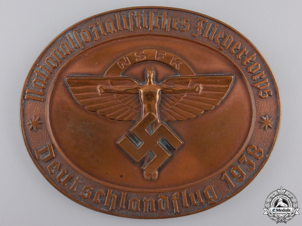 eMedals-A 1938 NSFK Air Rally Table Medal; Numbered