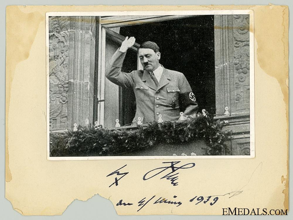 eMedals-A 1939 Dated AH Signature