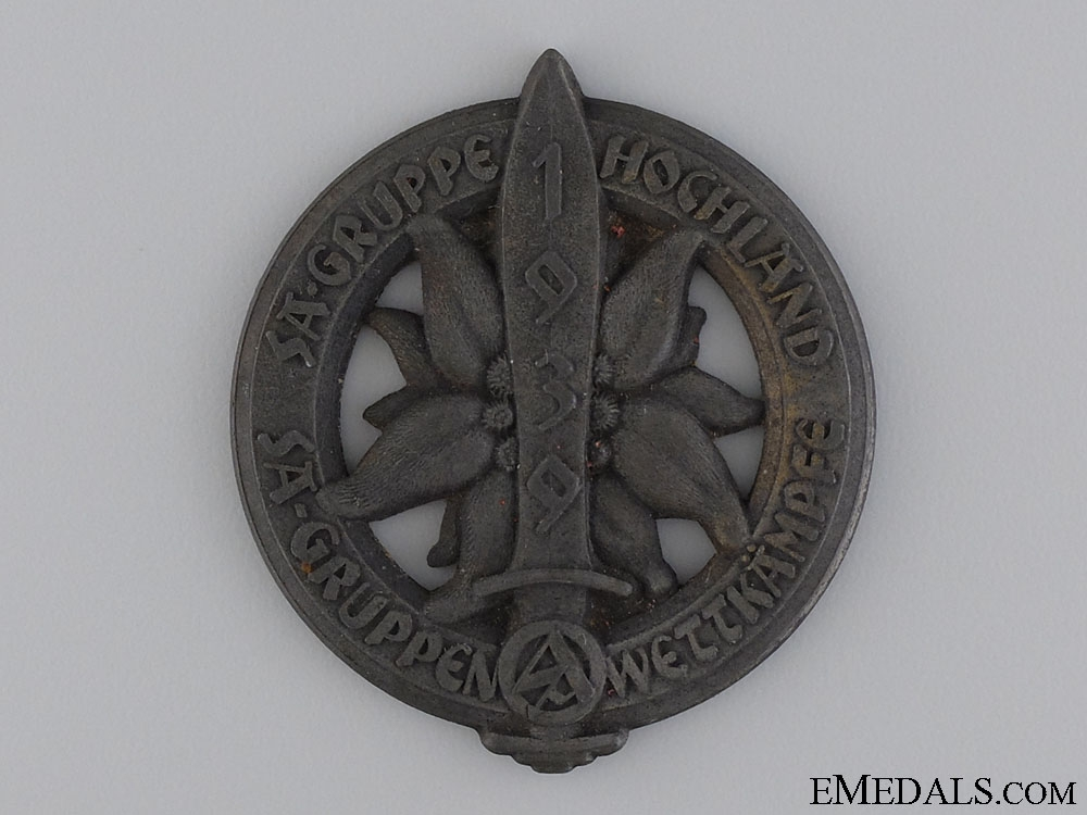 eMedals-A 1939 SA Group Hochland Sports Competition Badge