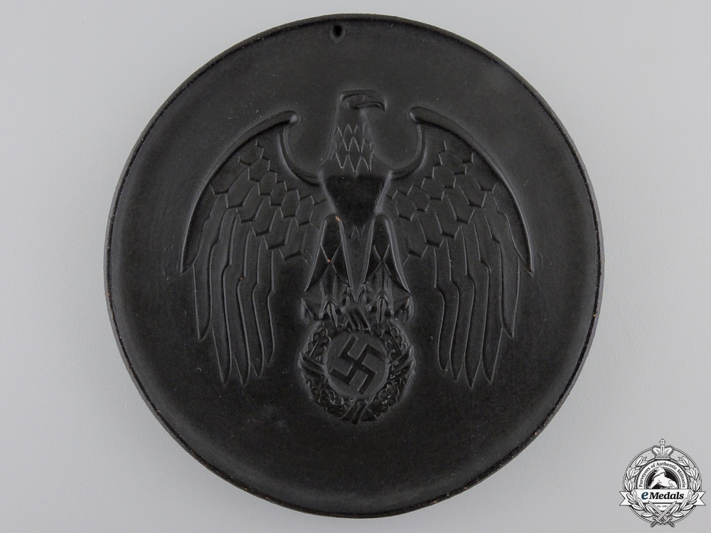 eMedals-A 1939 SS Allach Porcelain Award Plaque