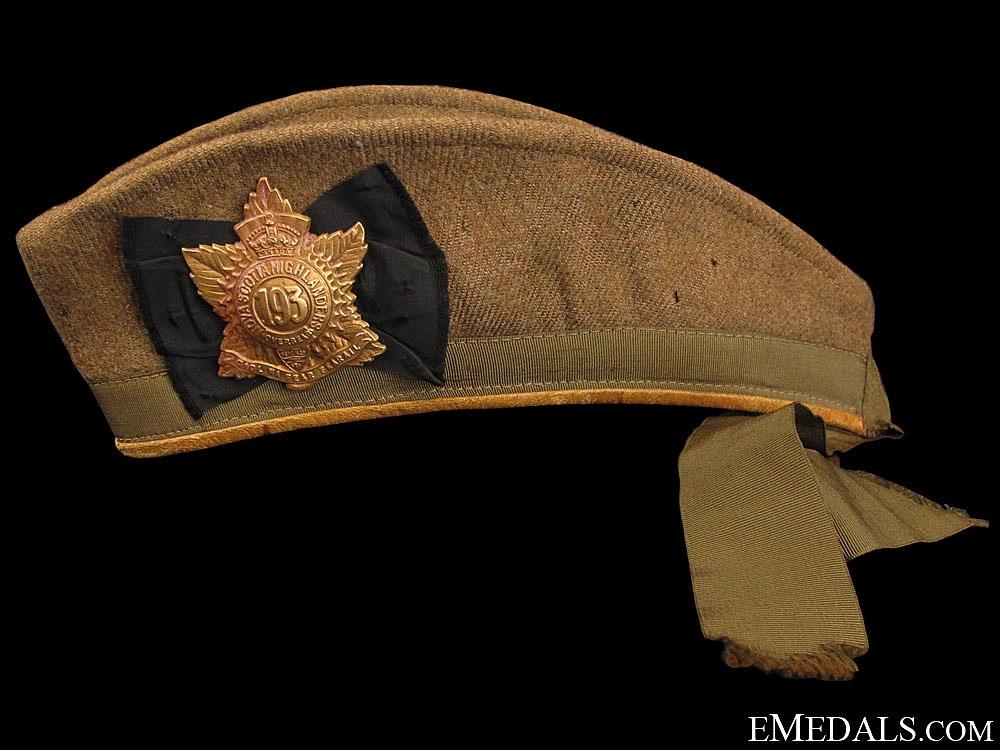 eMedals-A 193rd Battalion Khaki Glengarry