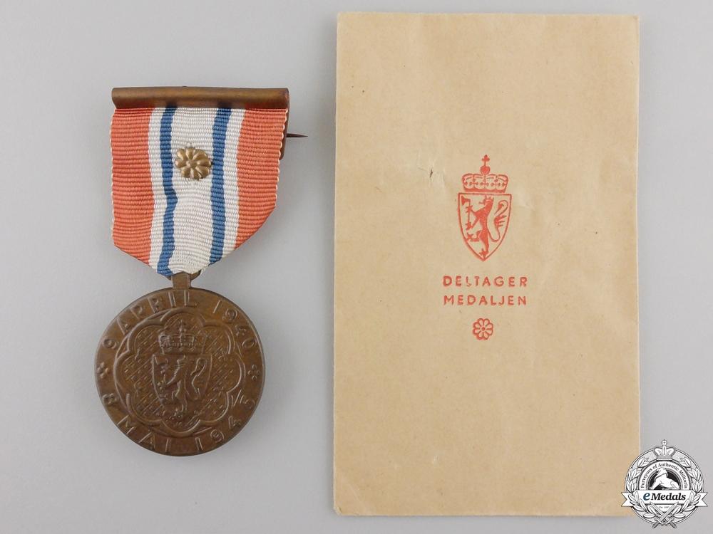 eMedals-A 1940-45 Norwegian War Participiation Medal