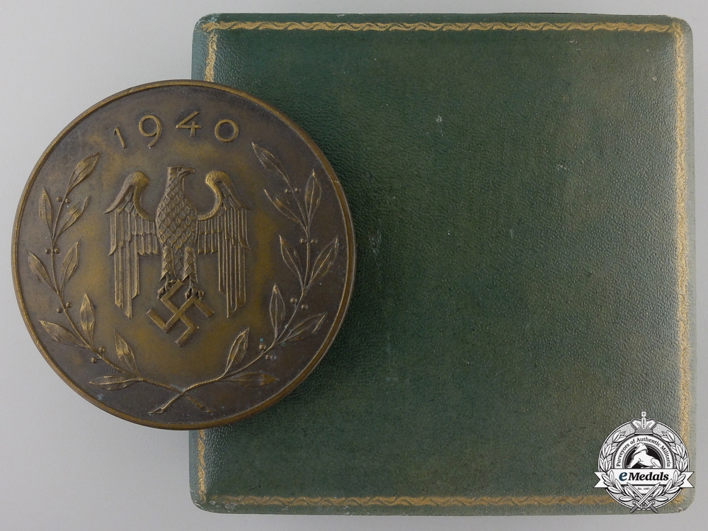 eMedals-A 1940 German Infantry Regiment War Sport Festival; 1st Place Medal