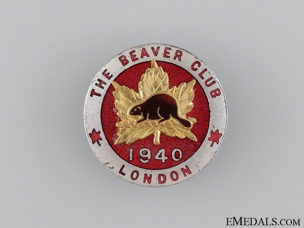 eMedals-A 1940 London Beaver Club Badge