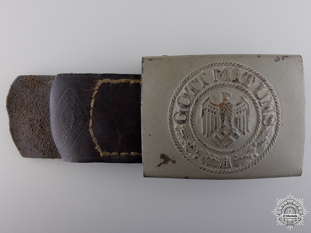 eMedals-A 1941 Heer Belt Buckle with Tab