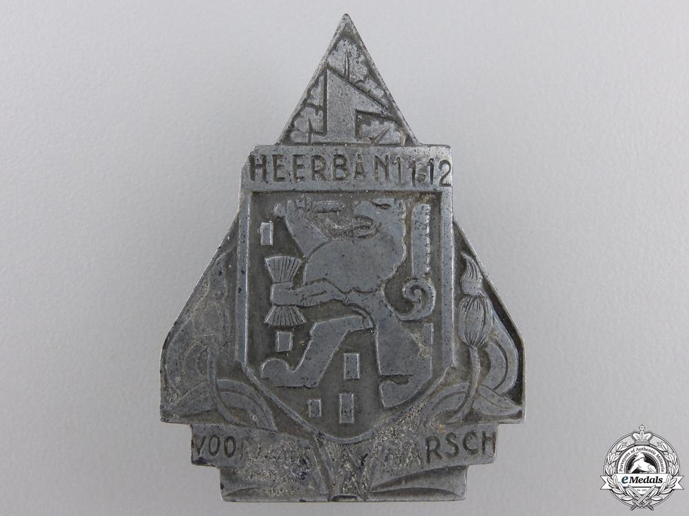 eMedals-A 1942 Dutch W.A. Spring March Badge