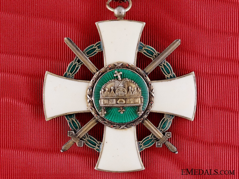 eMedals-A 1942 Hungarian order of the Holy Crown; Grand Cross with Swords