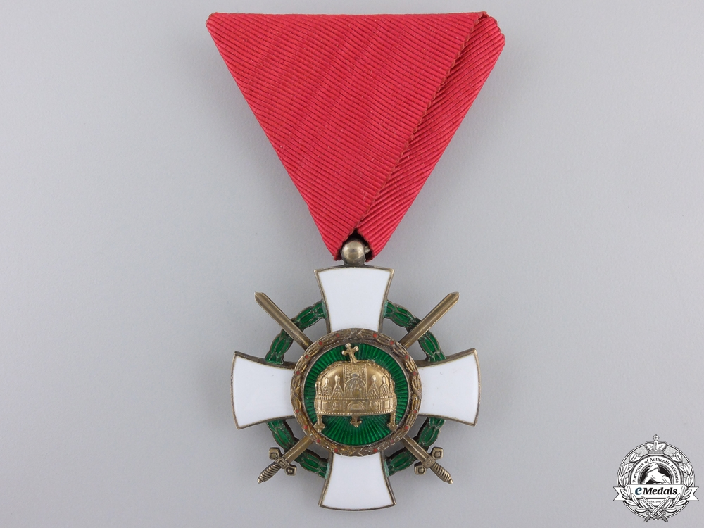 eMedals-A 1942 Hungarian Order of the Holy Crown; Knight Badge