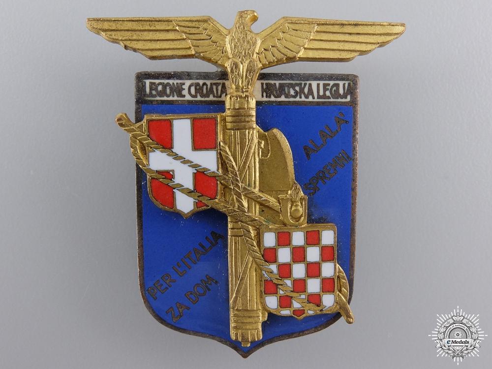eMedals-A 1942 Italian-Croatian Legion Officer's Badge