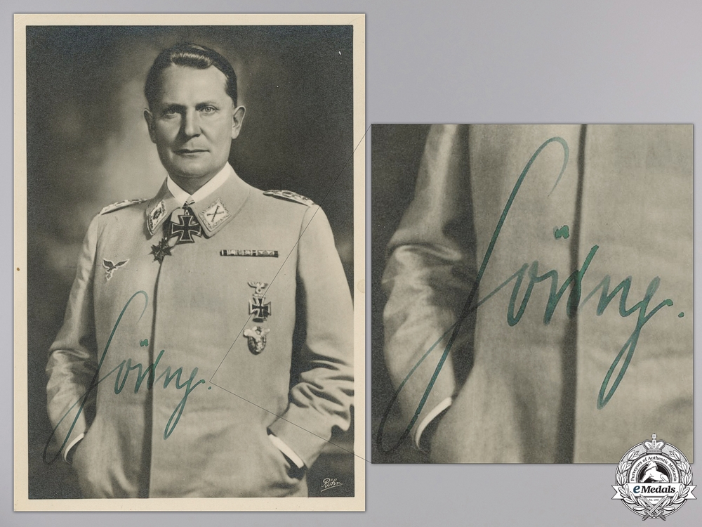 eMedals-A 1943 Hermann Göring Signed Picture Postcard   Consignment #4