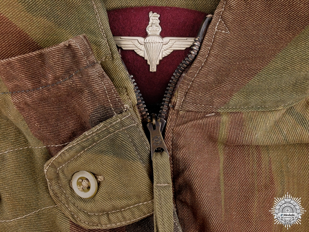eMedals-A 1945 British 3rd Pattern Officers Denison Smock with Beret