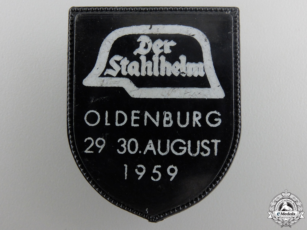 eMedals-A 1959 Oldenburg Der Stahlhelm Meeting Badge