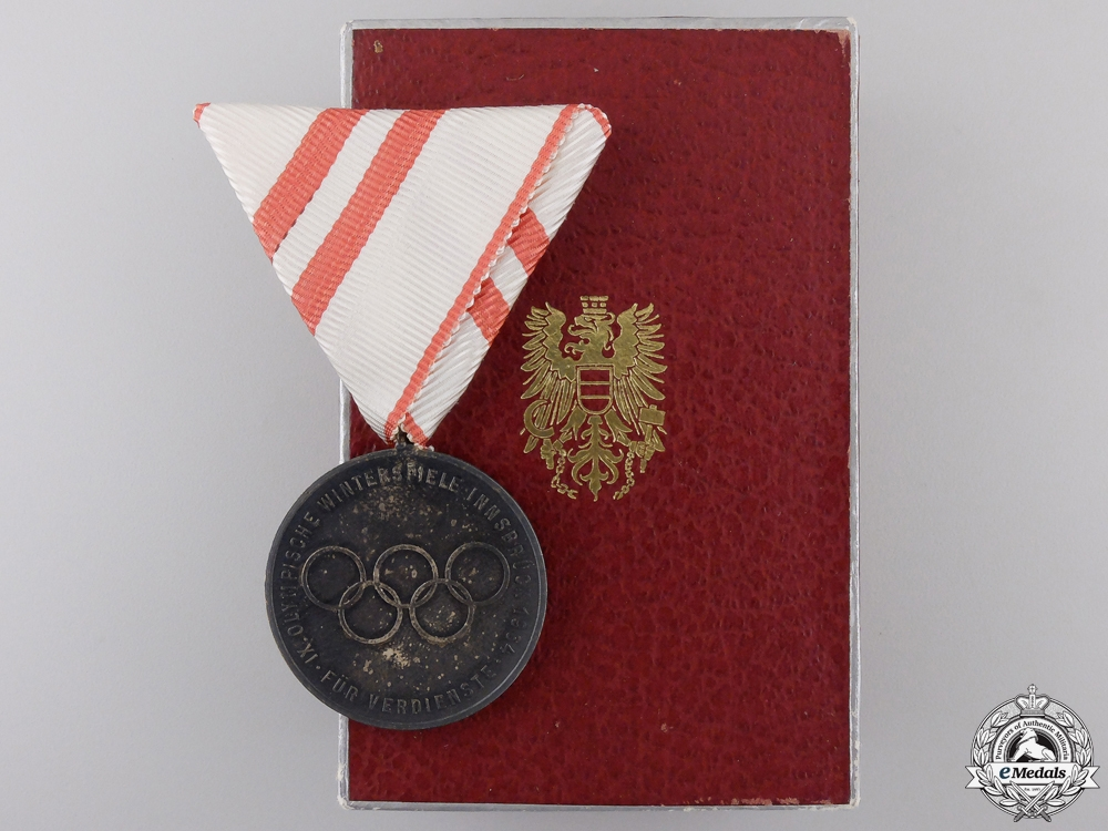 eMedals-A 1964 Innsbruck Olympic Games Medal with Case