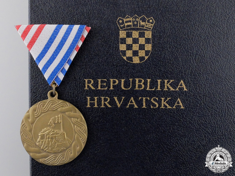 eMedals-A 1995 Republika Hrvatska Operation Storm Medal with Case