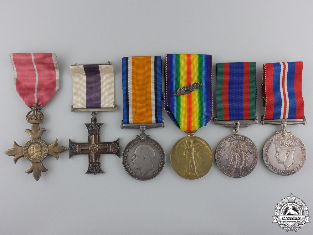 eMedals-A 19th Battalion Military Cross Group for Gallantry on Hill 70