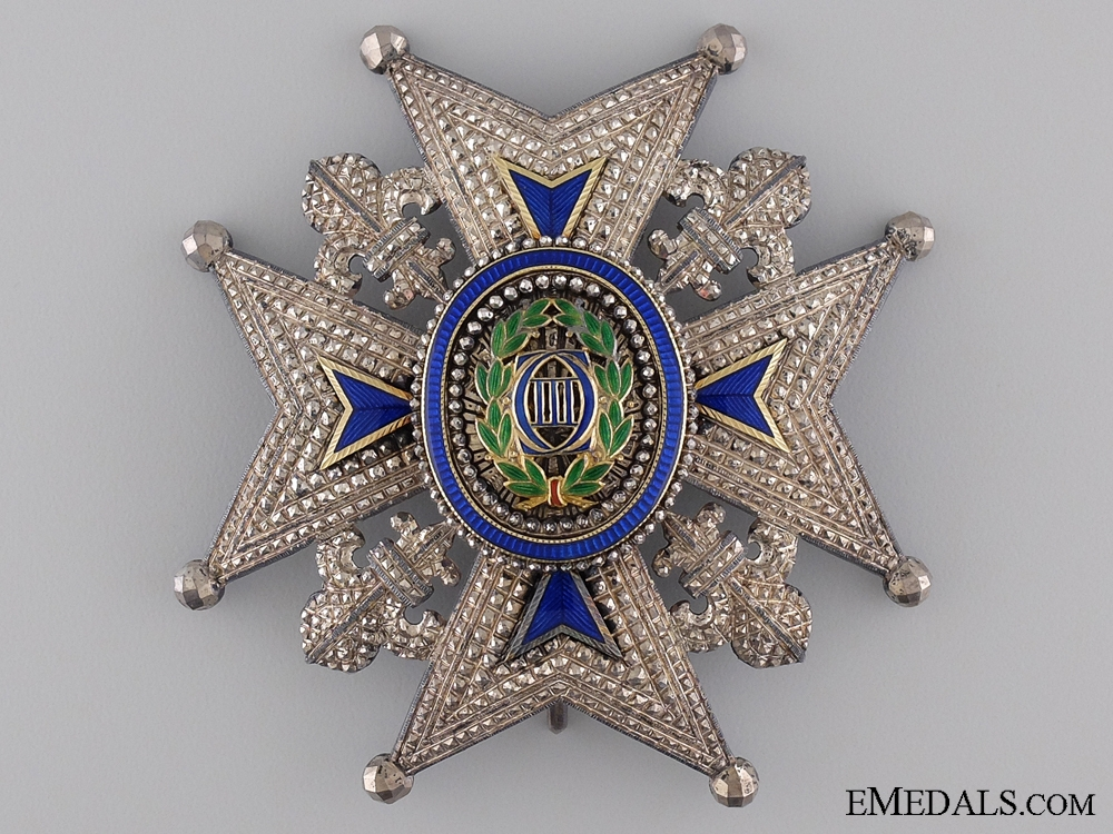 eMedals-A 19th Century Spanish Order of Charles III; Commander's Star