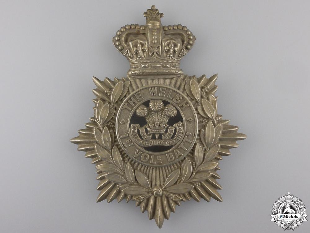 eMedals-A 1st Volunteer Battalion Welsh Regiment Victorian Helmet Plate