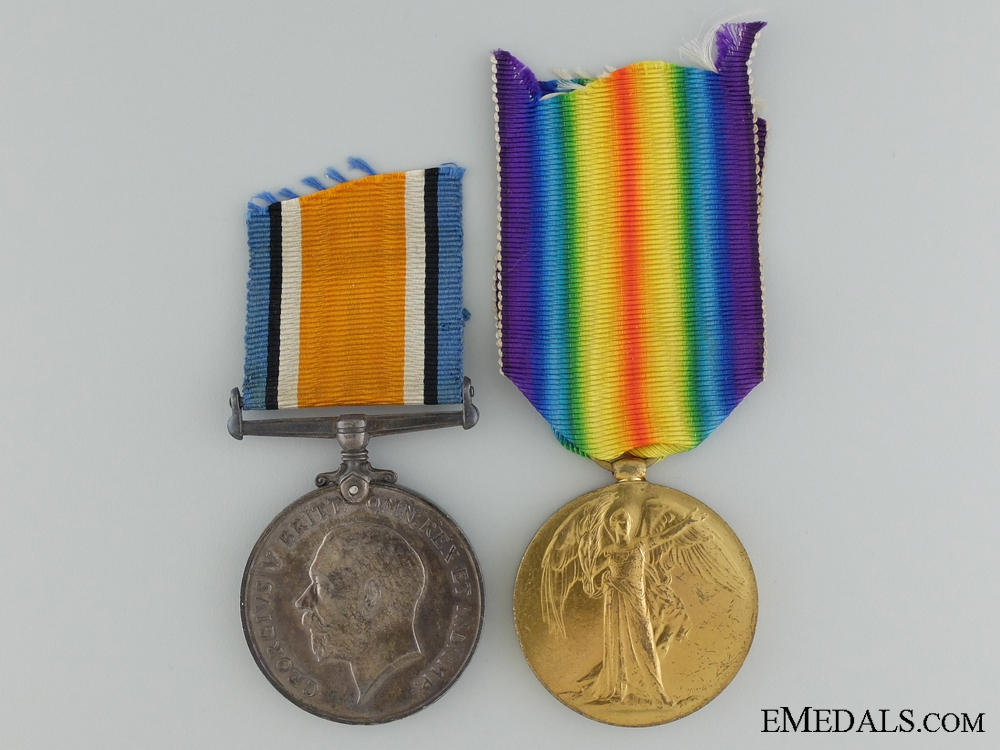 eMedals-A 1st War Medal Pair to Captain Johnson; Canadian Army Medical Corps