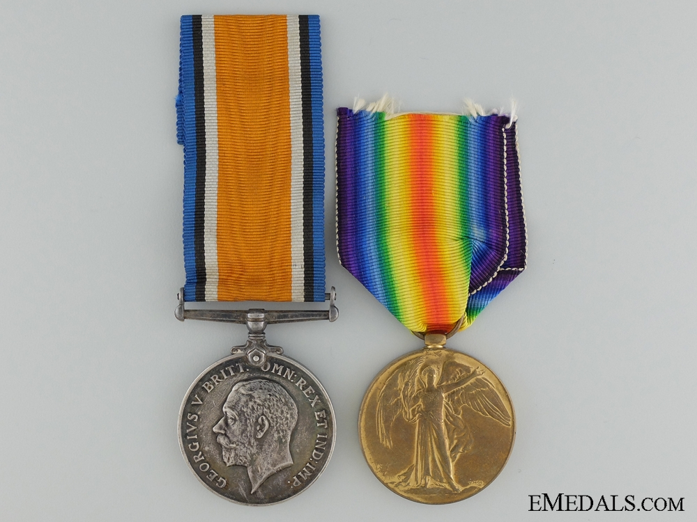 eMedals-A 1st War Medal Pair to the Canadian Infantry Workers Company