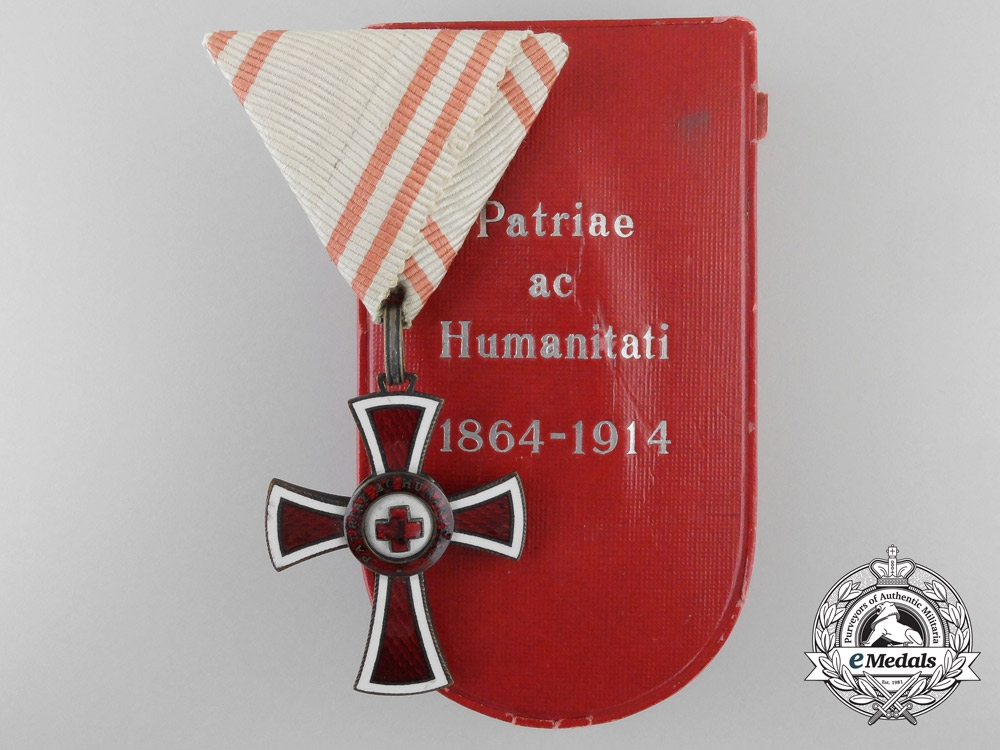eMedals-An Austrian Red Cross Honour Decoration by V.Mayer & Sohne with Case