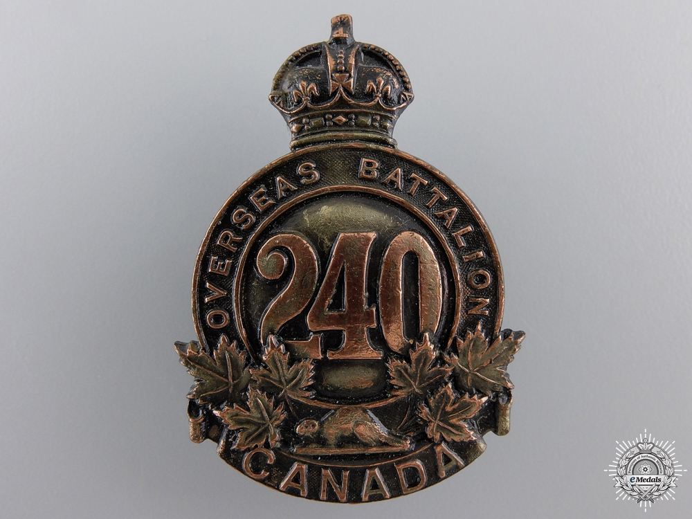 eMedals-A 240th Overseas Battalion Cap Badge CEF