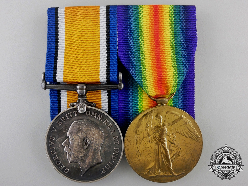 eMedals-United Kingdom. A Pair to 2nd Lieutenant Garton of the Royal Garrison Artillery