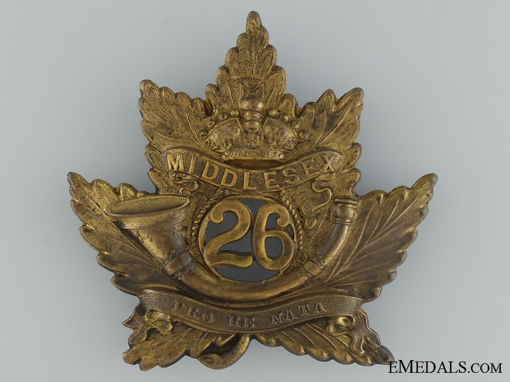 eMedals-A 26th Middlesex Battalion of Infantry Helmet Plate