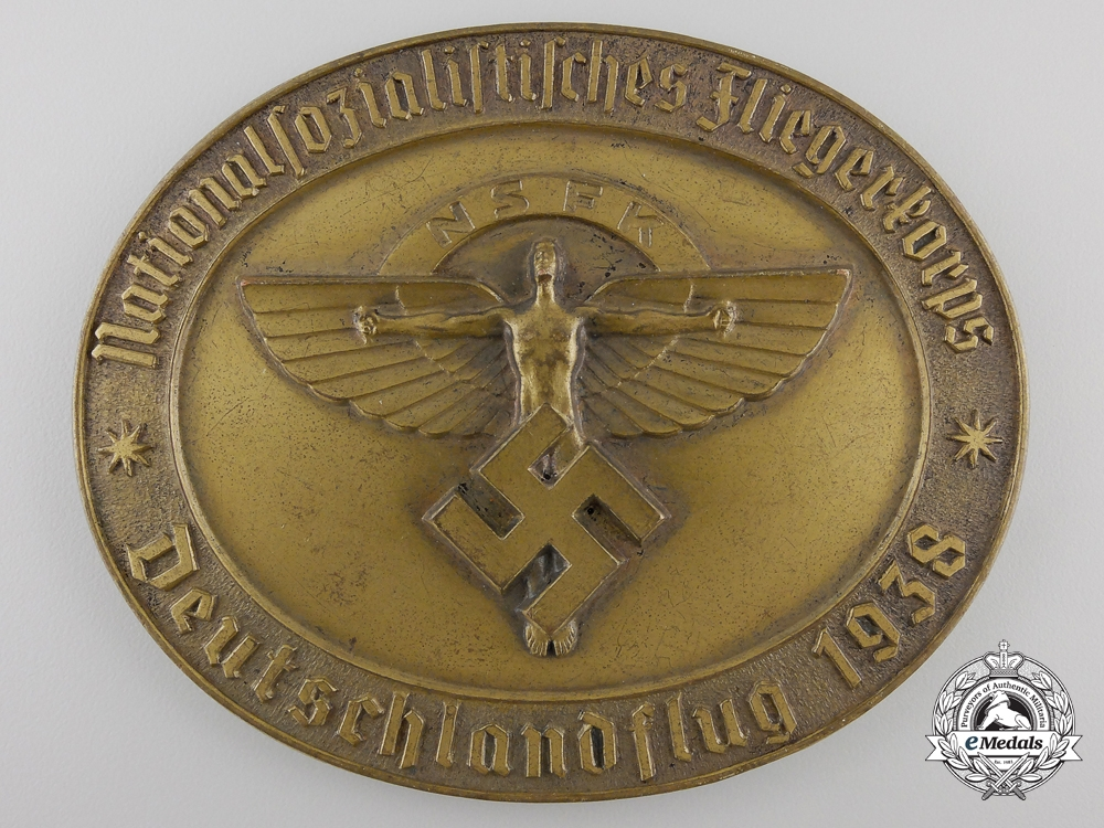 eMedals-A 1938 NSFK Award Medallion; Numbered