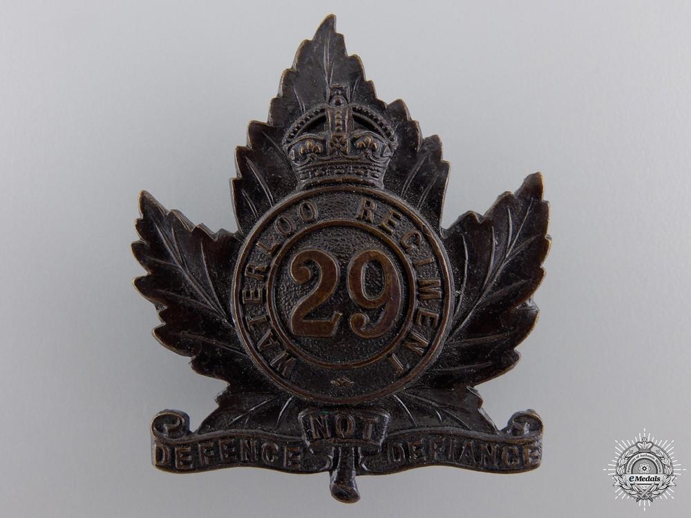 eMedals-A 29th Waterloo Regiment Cap Badge
