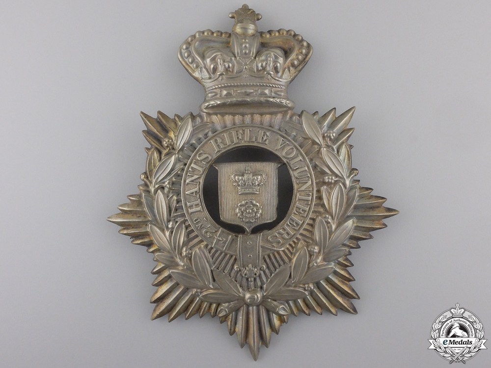 eMedals-A 2nd Hampshire Rifle Volunteers Helmet Plate