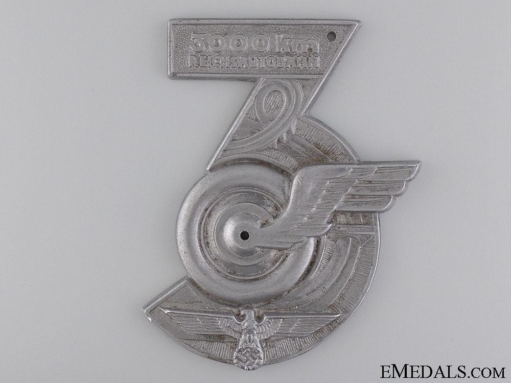 eMedals-A 3000 Km Reichsautobahn (Motorway) Plaque