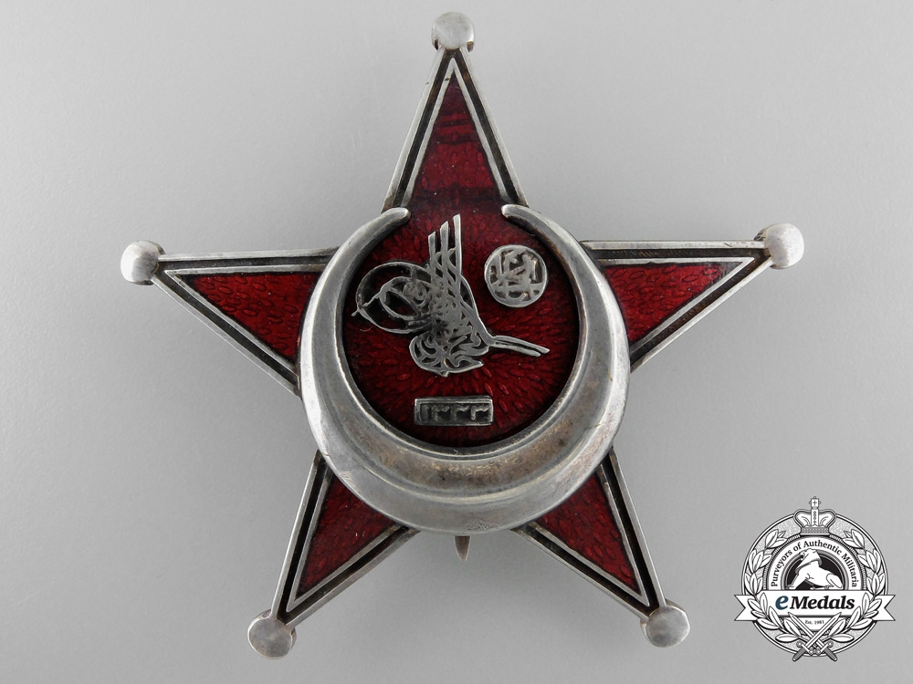 eMedals-An Oversized 1915 Turkish Campaign Star (Iron Crescent 1915) with Case