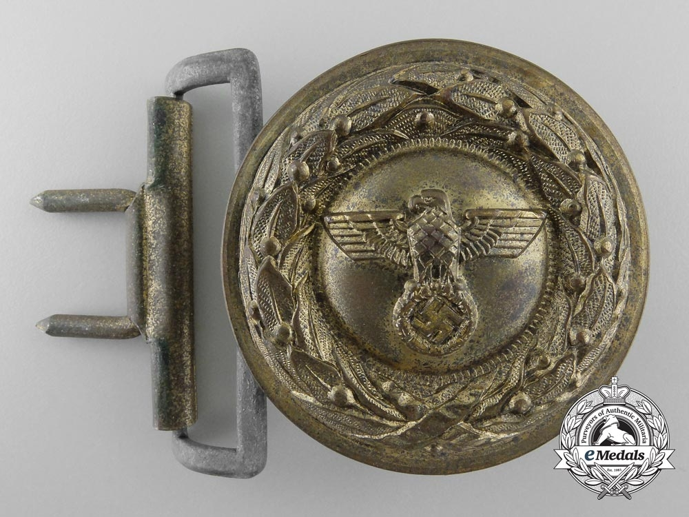 eMedals-A German Penal Institution Administration Official's Type II Belt Buckle; Published Example