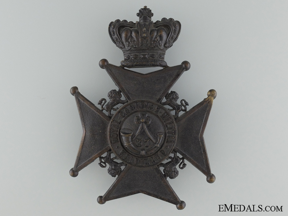 eMedals-A 37th Haldimand Battalion of Rifles Helmet Plate
