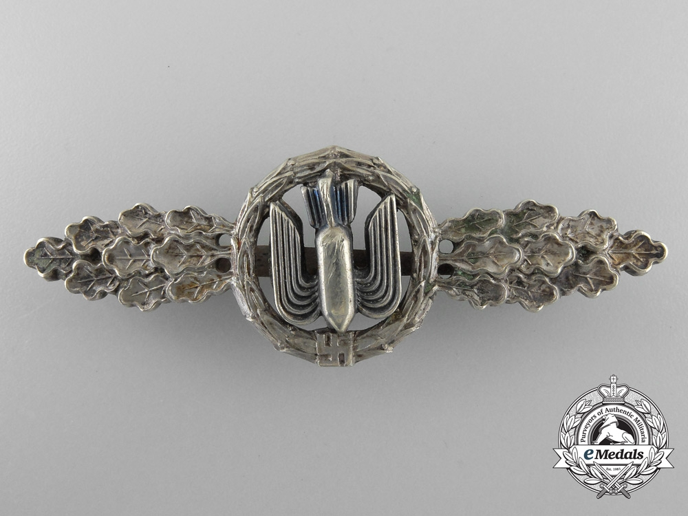 eMedals-Germany, Luftwaffe. A Squadron Clasp for Bomber Pilots, Silver Grade
